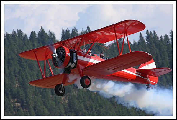Brent Blue MD in Stearman with Smoke in Spokane Episode 22 Inspired Pilot Podcast (2)